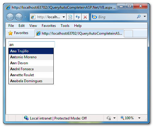 Autocomplete Textbox In MVC | With Database | Jquery Ajax ...