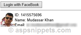 Facebook Authentication MVC: Login with Facebook account in ASP.Net MVC