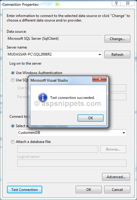 Select Insert Edit Update and Delete in GridView using Entity Framework in ASP.Net