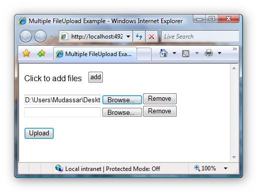 Multiple FileUploads using JavaScript