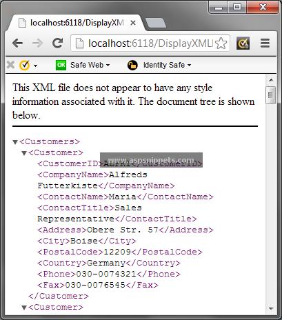 display pdf in browser c