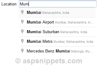 how to add google maps autocomplete to textbox in html