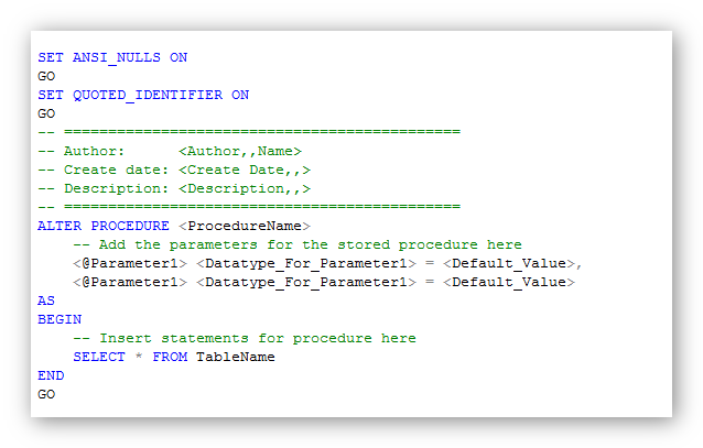 alter a sql stored procedure - Sql Report Writing