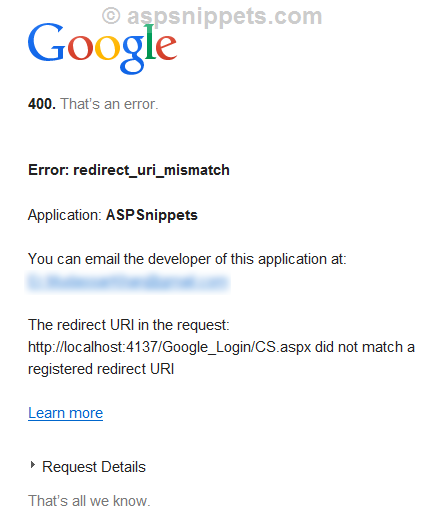 Login with Gmail Account API in ASP.Net