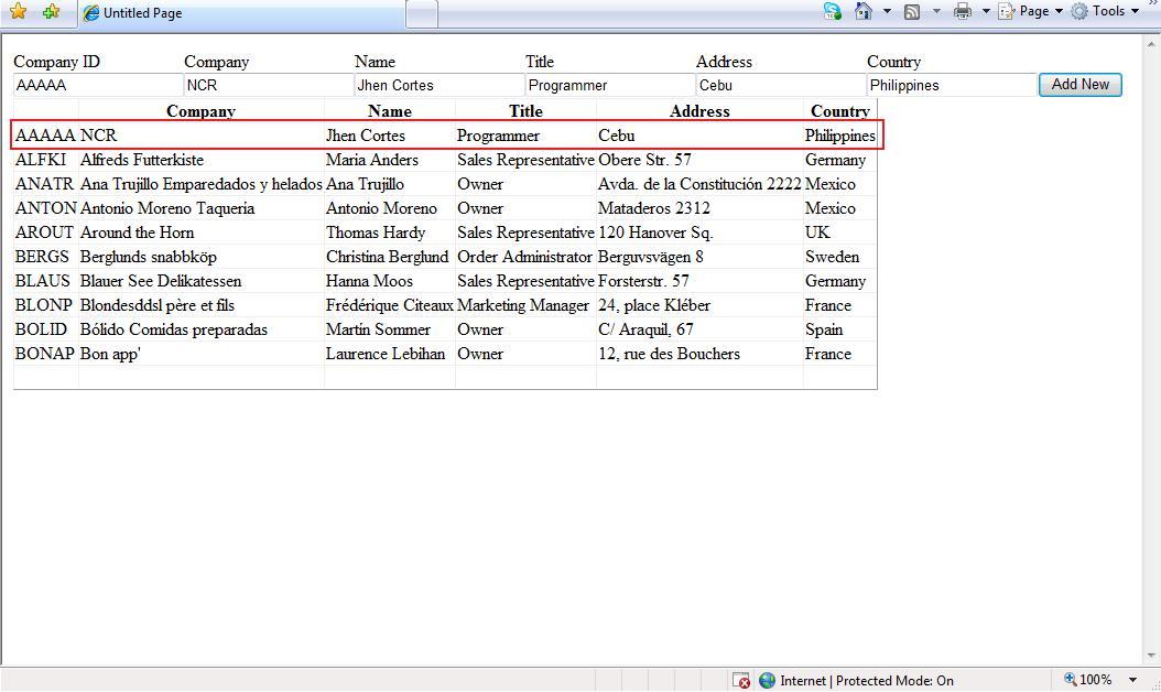 ASP.Net Gridview Insert Edit Delete Update using ADO.Net