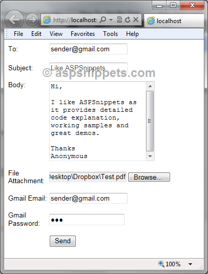 Send email asynchronous email using background thread in ASP.Net