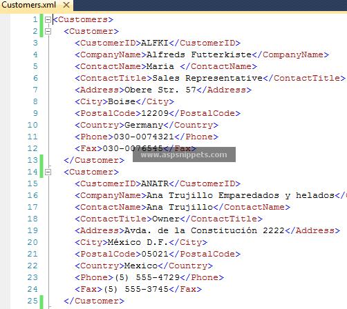 Xml Website Example: Display XML File In Web Browser In ASP.Net Using C# And VB.Net