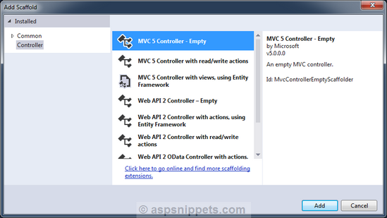 Getting Started with Razor View Engine in ASP.Net MVC 5
