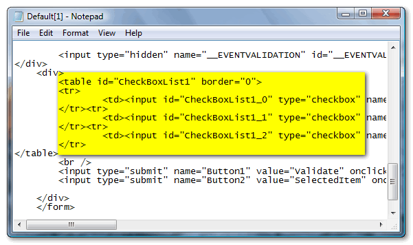 Using JavaScript with ASP.Net CheckBoxList Control