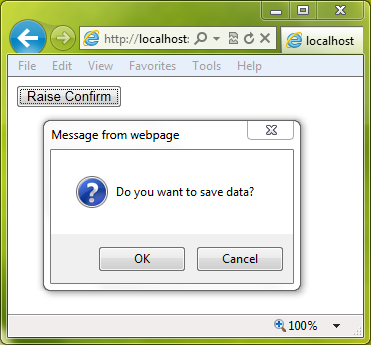 Server Side (Code Behind) Yes No Confirmation Message Box in ASP Net